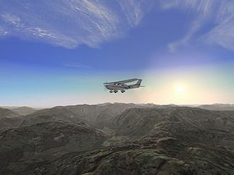 Microsoft Flight Simulator - FS2004 in the UK Lake District with VFR (Visual Flight Rules) photo scenery and terrain additional components