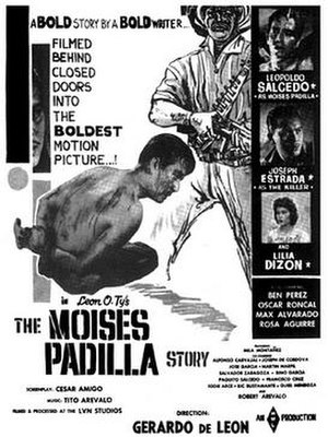 Ramon Magsaysay - Theatrical poster of the 1961 film The Moises Padilla Story that narrates the 1951 event.