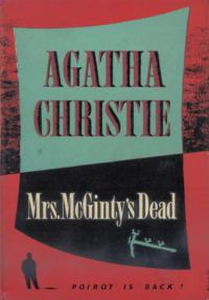 Mrs McGinty's Dead - Dustjacket illustration of the UK First Edition (Book was first published in the US)