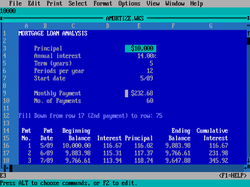 Microsoft Works 2.0 for DOS.