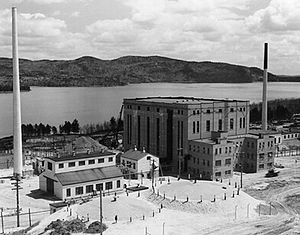 Bruno Pontecorvo - NRX and ZEEP buildings at Chalk River in 1945. NRX was for a time the world's most powerful research reactor.