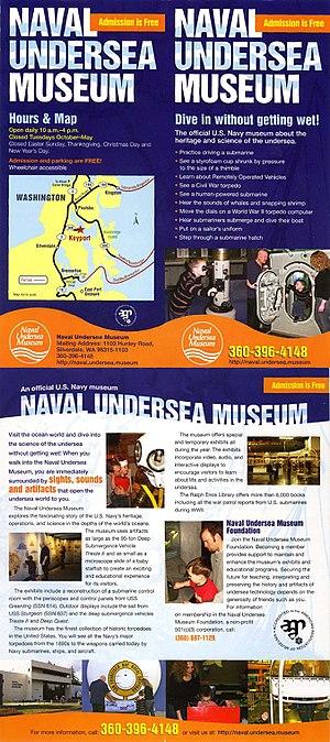 Naval Undersea Museum - Image: NU Mbrochure