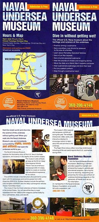 United States Naval Undersea Museum - Image: NU Mbrochure