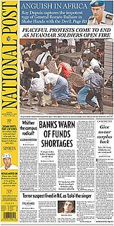 <i>National Post</i> national newspaper based in Toronto, Canada