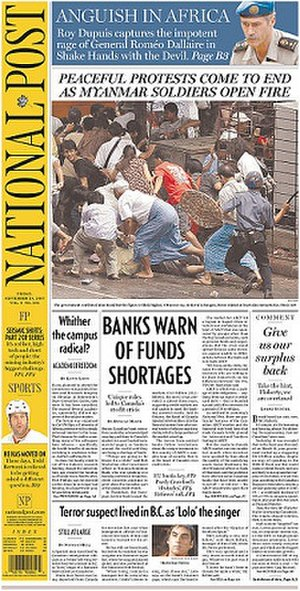 National Post - Image: National Post 9 28 2007 Redesign