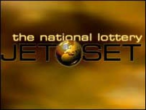 Jet Set (game show) - Image: National lottery jetset logo 203x 152