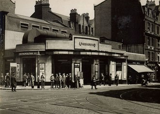 Old Street station - Old Street station in the 1920s, before redevelopment and construction of the Old Street Roundabout