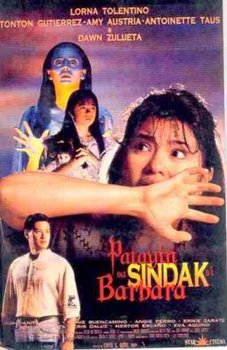 Patayin sa Sindak si Barbara (film) - The original promotional poster.