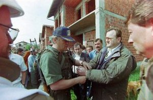 Operation Flash - The surrender of the RSK 51st Brigade and civilian authorities in Pakrac on 3 May 1995.