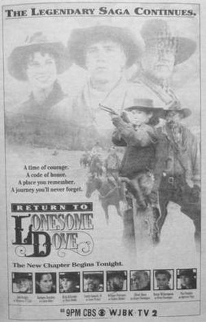 Return to Lonesome Dove - 1993 newspaper advertisement for the miniseries