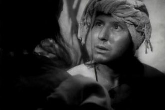 Roderigo - Robert Coote as Roderigo in the Turkish bath scene from Orson Welles' 1952 film, Othello