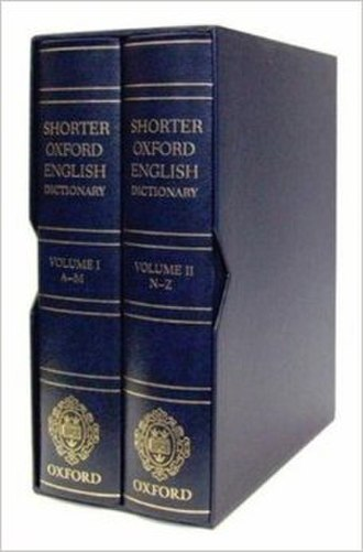 Shorter Oxford English Dictionary - Leather bound SOED Sixth Edition