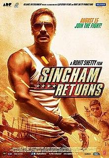 <i>Singham Returns</i> 2014 film directed by Rohit Shetty