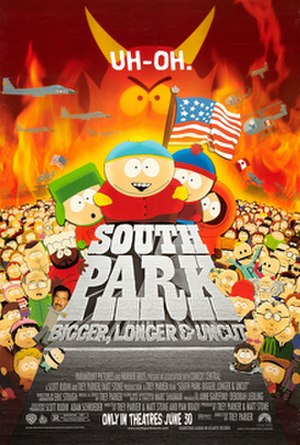 South Park: Bigger, Longer & Uncut - Theatrical release poster