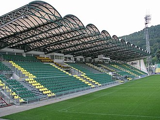 2017–18 Slovak First Football League - Image: Stadium Pod Dubnom