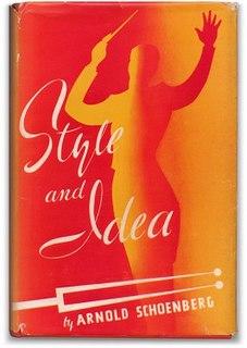 <i>Style and Idea</i> (Schoenberg) book by Arnold Schönberg