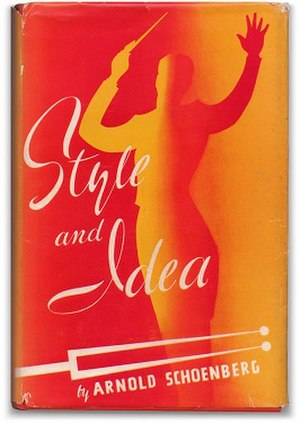 Style and Idea (Schoenberg) - First edition (publ. Philosophical Library, 1950)