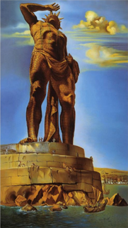 <i>The Colossus of Rhodes</i> (Dalí) painting by Salvador Dali