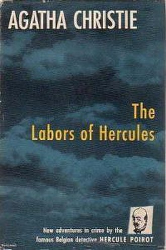 The Labours of Hercules - Dust-jacket illustration of the US (true first) edition. See Publication history (below) for UK first edition jacket image.