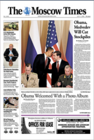 The Moscow Times - Image: The Moscow Times (front page)