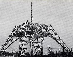 Tokyo Tower - Construction underway on 25 February 1958