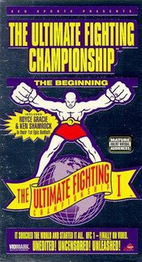 A poster or logo for UFC 1: The Beginning.