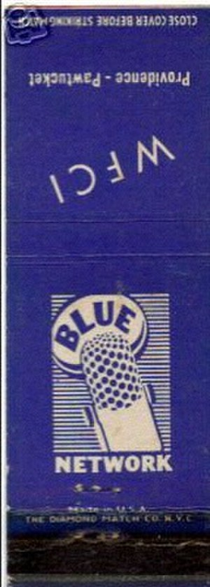 Blue Network - Matchbook from WFCI/1420 (now defunct) at Pawtucket, Rhode Island.