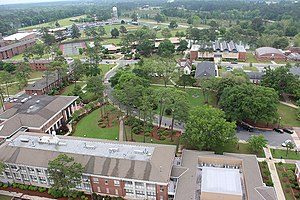 Middle Georgia State University - An aerial view of a portion of the Cochran Campus.