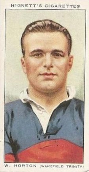 Bill Horton (rugby league) - Hignett's Cigarette card featuring William Horton