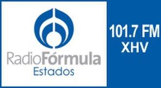 XHV-FM - Image: XHV 101.7fm radioformula logo