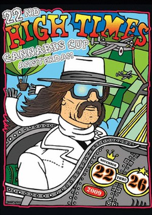 Cannabis Cup - Poster art for the 22nd High Times Cannabis Cup, 2009