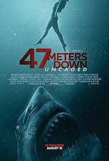 <i>47 Meters Down: Uncaged</i> American survival horror film directed by Johannes Roberts
