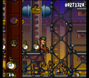 Adventures of Yogi Bear - This is the result of Yogi Bear being hit by weasels in this game.