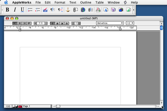 AppleWorks - Image: Appleworks 6.0 wordproc mac