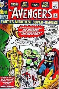 The Avengers #1 (Sept. 1963). Cover art by Jack Kirby & Dick Ayers.