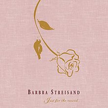 A golden rose appears over a pink background that displays the album's title and respective artist.