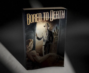 Bored to Death - The opening title screen for Bored to Death features a detective novel with a film noir-esque cover