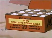 220px Box of %22ACME EXPLOSIVE TENNIS BALLS%22 (screencap) Festival In The Pines Scenes. youtube o8MCyAnz6mk