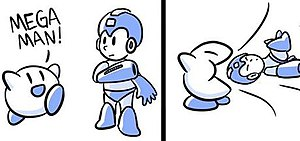 "Brawl in the Family (webcomic) - A small portion of one of the ""Kirby eats something"" strips"