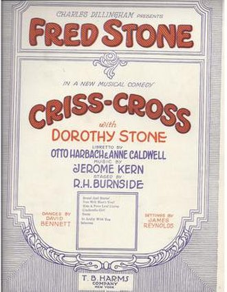 Criss Cross (musical) - Sheet Music Cover