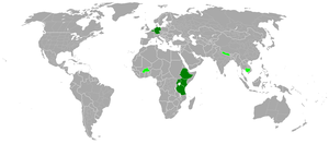 German Foundation for World Population - Image: DSW Countries of Operation