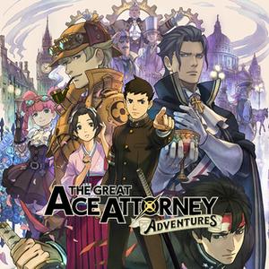Dai Gyakuten Saiban: Naruhodō Ryūnosuke no Bōken - Cover art, featuring the game's main characters