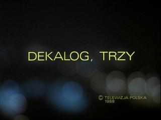 <i>Dekalog: Three</i> 1988 film from cycle directed by Krzysztof Kieślowski