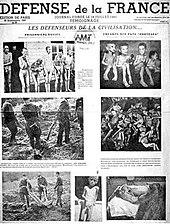 The 30 September 1943 Issue Of Resistance Newspaper Defense De La France