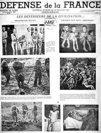 Défense de la France - Issue of Défense de la France for 30 September 1943