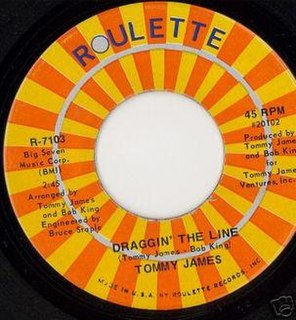 Draggin the Line Single by Tommy James
