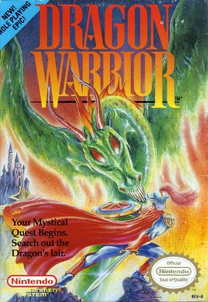 Dragon Quest (video game) - Box art of the original North American NES release, titled Dragon Warrior