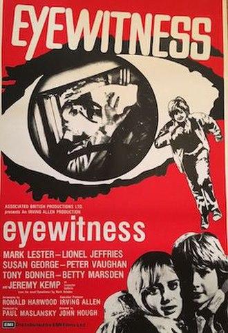 Eyewitness (1970 film) - DVD cover