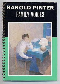 <i>Family Voices</i> play written by Harold Pinter