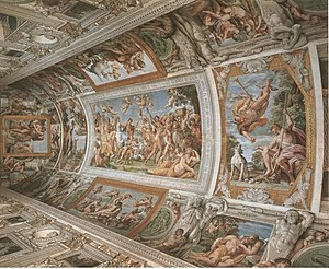 The Loves of the Gods - Farnese Gallery, or The Loves of the Gods ceiling fresco cycle.